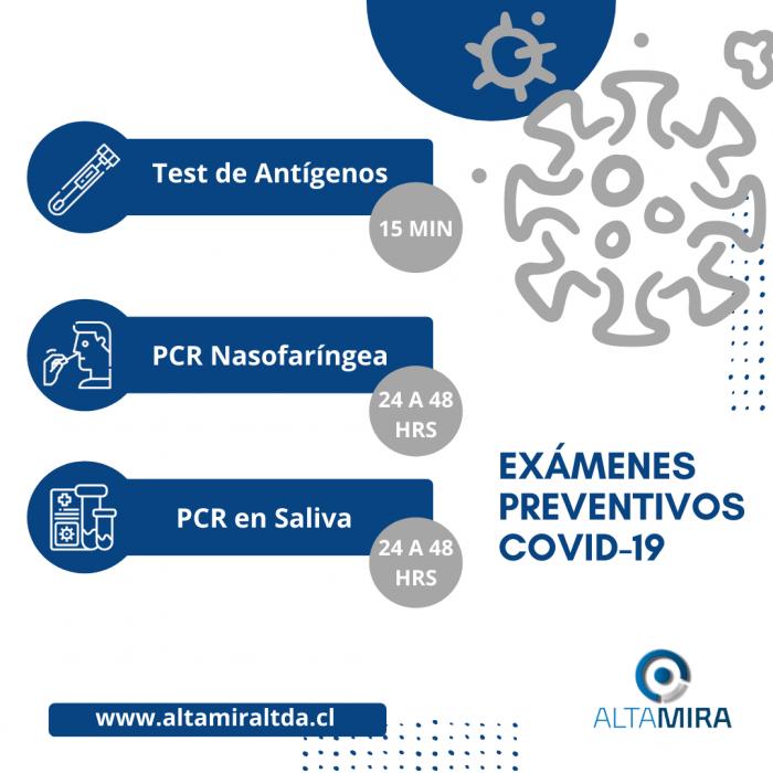 EXÁMENES PREVENTIVOS COVID-19